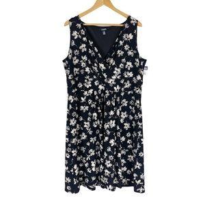Chaps Floral Sleeveless Dress Size 18W
